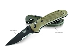 Benchmade Griptilian Mod Drop Point, Combo Edge, Hollow Ground & BK Coating Olive