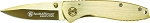 Smith and Wesson Executive Frame Lock Folding Knife Drop Point Blade Steel Handle