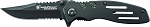 Smith and Wesson Extreme Ops Liner Lock Folding Knife Partially Serrated Clip Point Blade Aluminum Handle