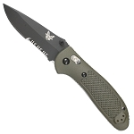 551SBKOD Benchmade Griptilian Mod Drop Point, Combo Edge, Hollow Ground & BK Coating Olive