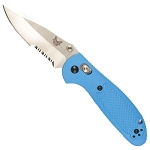 Benchmade Mini-Griptilian Combo Edge, Blue Handle (556S-BLU-S30V)