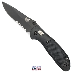 Benchmade Mini-Griptilian Combo Edge & Black Coating (556SBK-S30V)