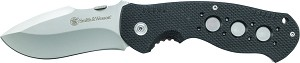 Smith and Wesson Extreme Ops Liner Lock Drop Point G-10 Folding Knife Fine Edge (SW601)