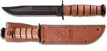 Ka-Bar USMC Fighting Utility Knife Plain Edge w/sheath(1217)