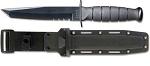 Ka-Bar Short Black Tanto Serrated w/Hard Sheath(5055)