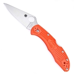 Spyderco Delica 4 Flat Ground Orange (C11FPOR)